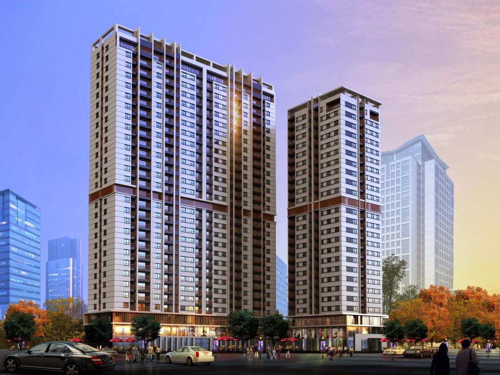Phối cảnh dự án chung cư Hong Kong Tower