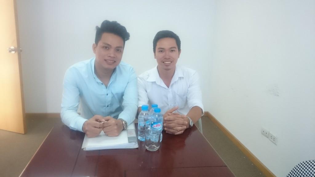 Ca sĩ Lê Tâm và Phạm Khải Hoàn